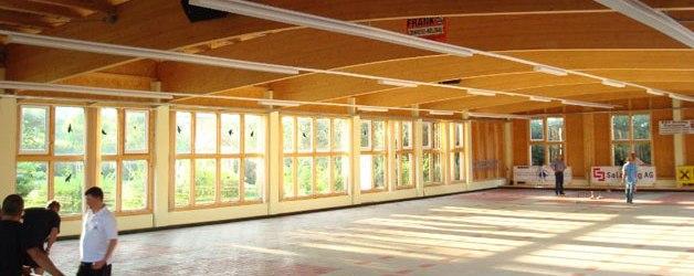 Die Stocksporthalle des ESV Grödig-Gartenau